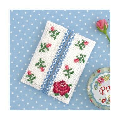 Romantic Embroidery Olympusクロスステッチ刺繍キットno.9008「バラのティッシュケース」 ロマンティック エンブロイダリー
