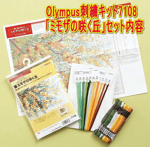 Olympus刺繍キット内容(一例)