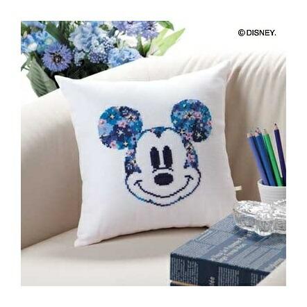 Olympusクロスステッチ刺繍キット6048 「ミニクッション (ミッキーマウス)」 ディズニー Mickey Mouse オリムパス
