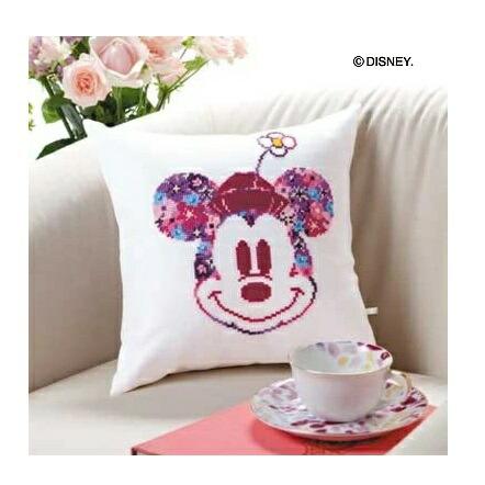 Disney Flower Collection Olympusクロスステッチ刺繍キット6049 「ミニクッション (ミニーマウス)」 ディズニー Mickey Mouse オリムパス