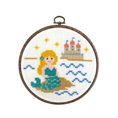 1日で完成! かんたんクロス・ステッチ Olympusクロスステッチ刺繍キット7340「人魚姫」 Fairy Tales ものがたりシリーズ