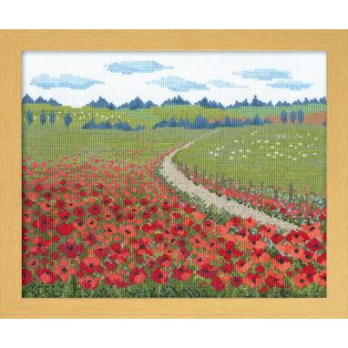 Olympusクロスステッチ刺繍キット7360「アンダルシアの夏」 (スペイン) オノエ・メグミのヨーロッパの花風景 オリムパス