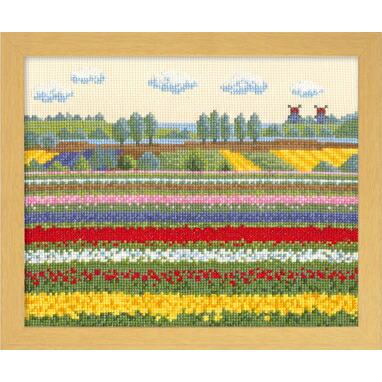 Olympusクロスステッチ刺繍キット7362「セーヌ川の春」 (フランス) オノエ・メグミのヨーロッパの花風景 オリムパス
