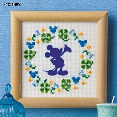 Olympusクロスステッチ刺繍キット7369 「ミニフレーム(ミッキーマウス)」(専用額付) ディズニー MICKEY MOUSE , cDisney オリムパス