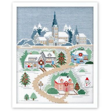 Olympusクロスステッチ刺繍キット 7401 「クリスマスの夜」 〜越智通子アート・フレーム〜 Memory of seasons 冬