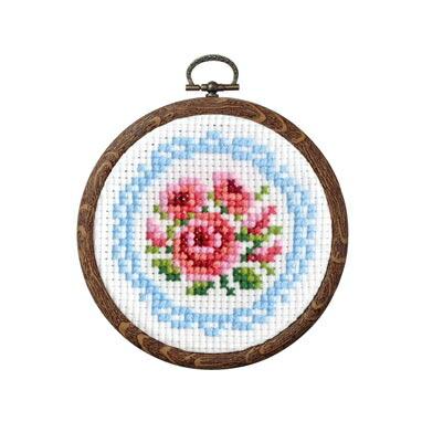 Olympusクロスステッチ刺繍キット 7441 「バラとレース」 おしゃれフープ フルーツ&フラワー第2弾 オリムパス