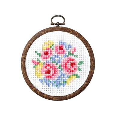 Olympusクロスステッチ刺繍キット 7445 「バラのブーケ」 おしゃれフープ フルーツ&フラワー第2弾 オリムパス