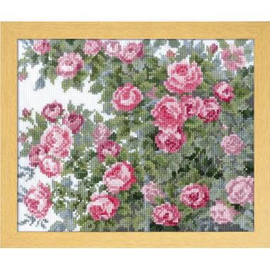 Olympusクロスステッチ刺繍キット 7450 「オールドローズ」 オノエ・メグミ ししゅうキットシリーズ 愛すべき花たち Old Rose バラ 薔薇 ばら