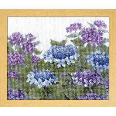 Olympusクロスステッチ刺繍キット 7451 「紫陽花」 オノエ・メグミ ししゅうキットシリーズ 愛すべき花たち あじさい アジサイ