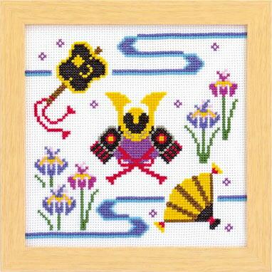 Olympusクロスステッチ刺繍キット 7463 「端午の節句」子供の日