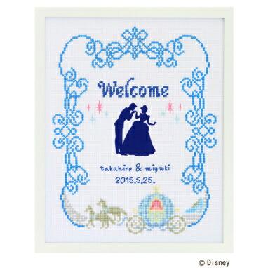 クロスステッチ刺繍キット 7465「ウェルカムボード・シンデレラ」Cinderella ディズニー・プリンセス ウェディング, cDisney Princess