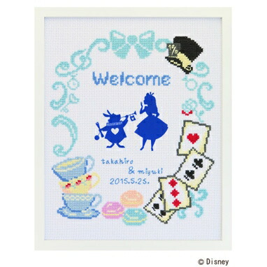 クロスステッチ刺繍キット 7467 「不思議の国のアリス」 Alice in Wonderland ディズニー・プリンセス ウェディング, cDisney Princess