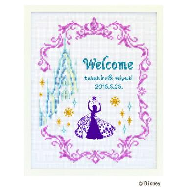 Disney Welcome Board クロスステッチ刺繍キット 7468 「ウェルカムボード・アナと雪の女王」 Frozen ディズニー・プリンセス ウェディング, cDisney Princess