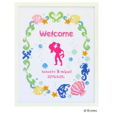 Disney Welcome Board クロスステッチ刺繍キット 7469 「ウェルカムボード・リトルマーメイド」 Little Mermaid ディズニー・プリンセス ウェディング, cDisney Princess