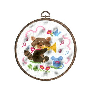 Olympusクロスステッチ刺繍キット7487 「レッサーパンダの演奏会」 森のかわいいなかまたち 第2弾 Animal forest オリムパス