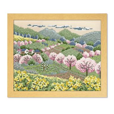 Olympusクロスステッチ刺繍キット 7491 「田園の春」