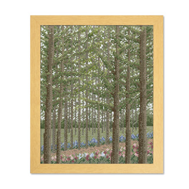 Olympusクロスステッチ刺繍キット 7492 「カラマツ林の小道」