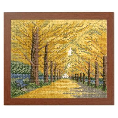 Olympusクロスステッチ刺繍キット 7493 「黄金色の散歩道」