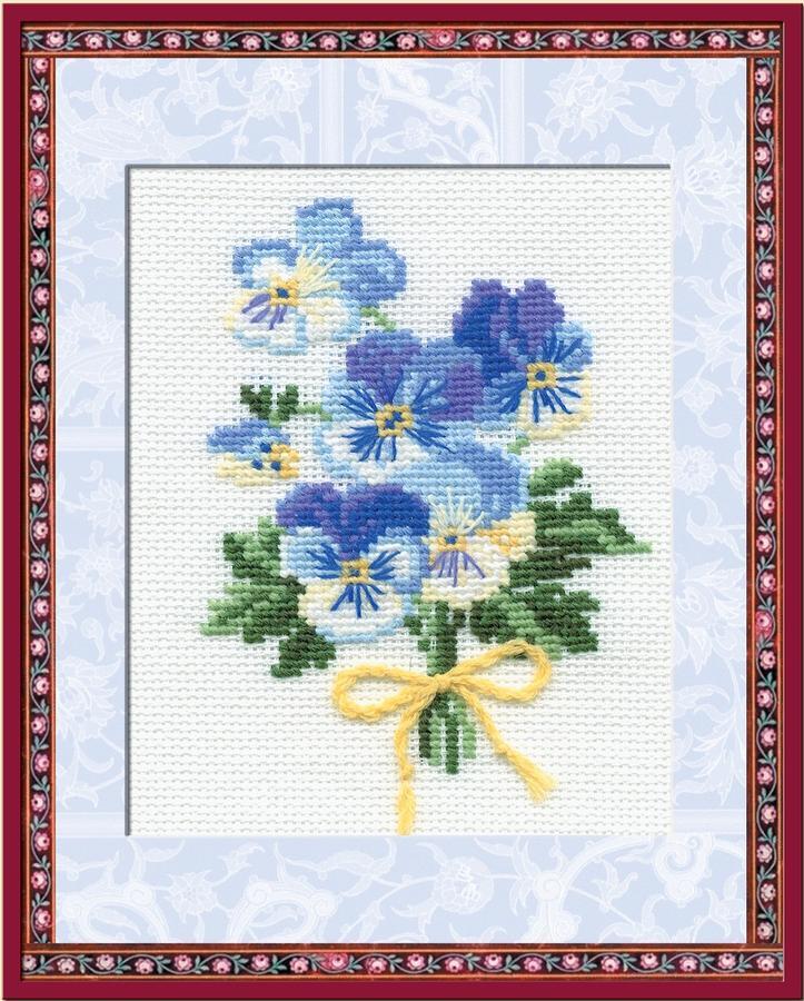 RIOLISクロスステッチ刺繍キット No.792 「The Small Bunch」(小さな花束) ロシアの刺しゅうメーカー「リオリス」製ししゅうキット