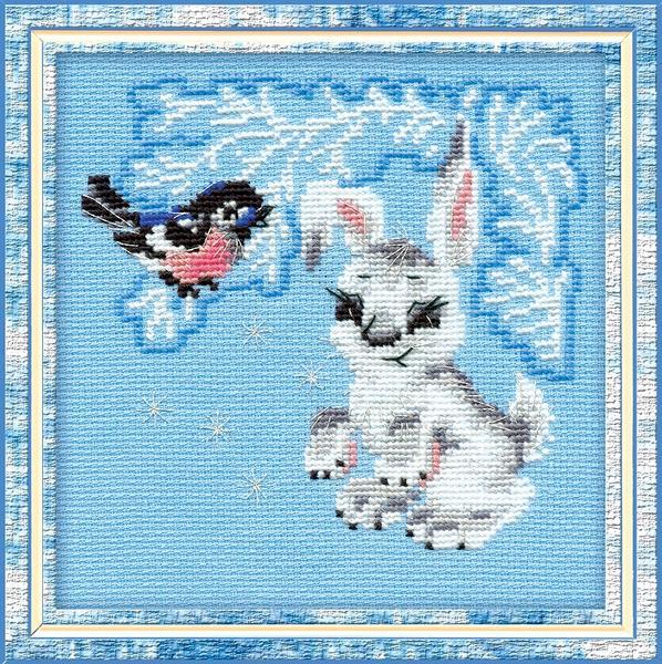 RIOLISクロスステッチ刺繍キット No.798 「The Leveret」 (子ウサギ) ロシアの刺しゅうメーカー「リオリス」製ししゅうキット