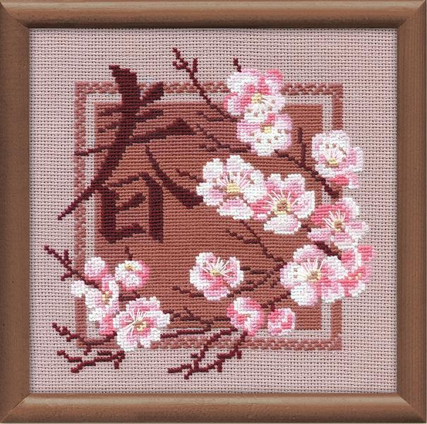 RIOLISクロスステッチ刺繍キット No.812 「Spring」 (春) ロシアの刺しゅうメーカー「リオリス」製ししゅうキット