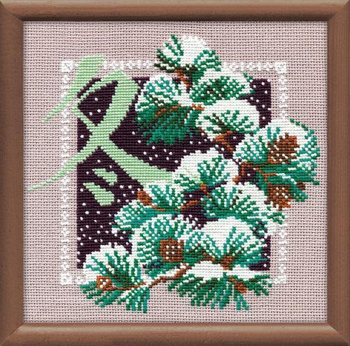 RIOLISクロスステッチ刺繍キット No.813 「Winter」 (冬) ロシアの刺しゅうメーカー「リオリス」製ししゅうキット