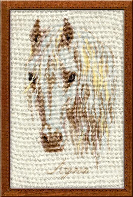 RIOLISクロスステッチ刺繍キット No.827 「Luna」 (ルナ 馬) ロシアの刺しゅうメーカー「リオリス」製ししゅうキット