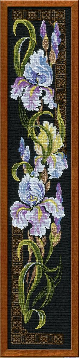RIOLISクロスステッチ刺繍キット No.841 「The Irises」 (アイリス) ロシアの刺しゅうメーカー「リオリス」製ししゅうキット