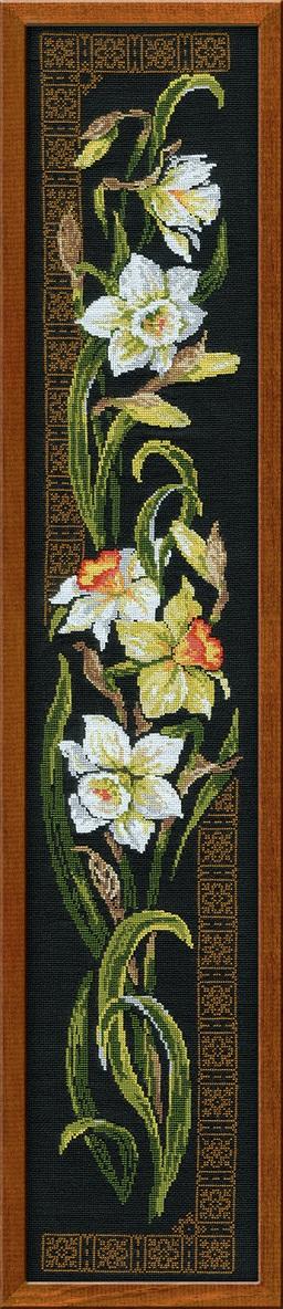 RIOLISクロスステッチ刺繍キット No.842 「The Narcissuses」 (水仙 スイセン) ロシアの刺しゅうメーカー「リオリス」製ししゅうキット