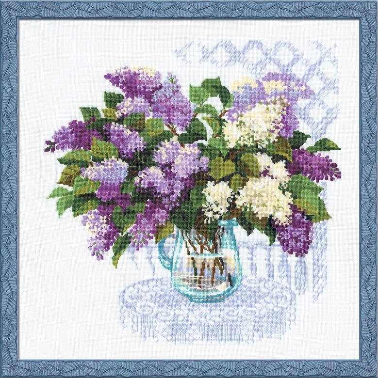 RIOLISクロスステッチ刺繍キット No.900 「The Smell of Spring」 (春の香り) ロシアの刺しゅうメーカー「リオリス」製ししゅうキット