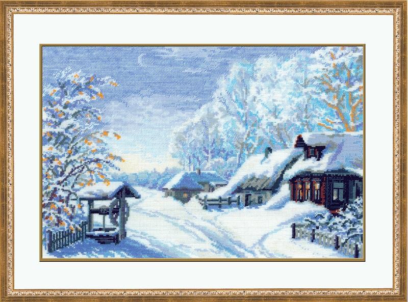 RIOLISクロスステッチ刺繍キット No.989 「The Russian Winter」 (ロシアの冬景色) ロシアの刺しゅうメーカー「リオリス」製ししゅうキット
