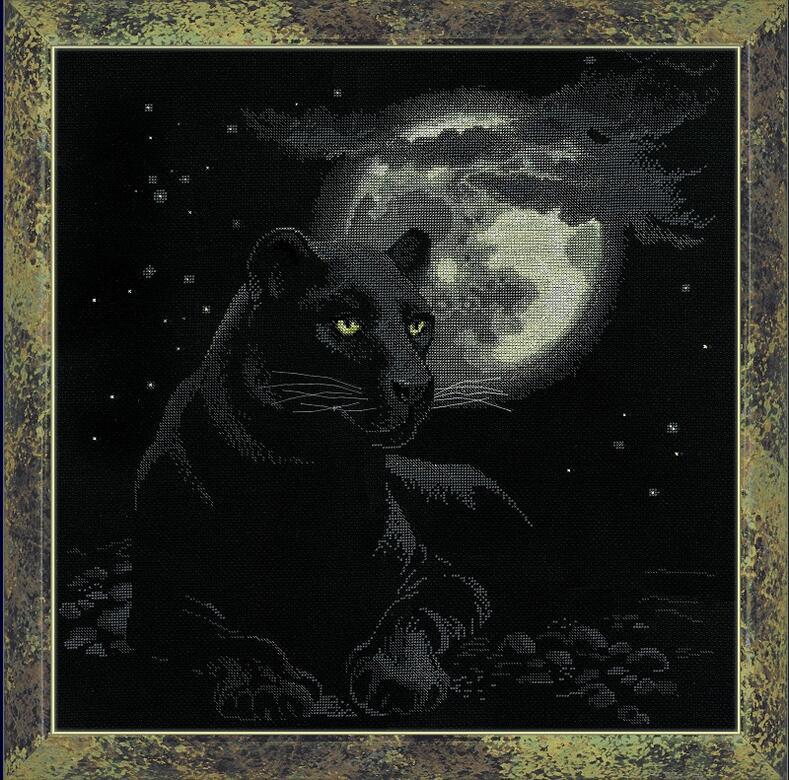 RIOLISクロスステッチ刺繍キット No.100/010 「The Full-Moon」 (満月) ロシアの刺しゅうメーカー「リオリス」製ししゅうキット