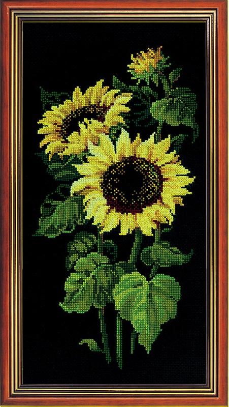 RIOLISクロスステッチ刺繍キット No.1056 「The Sunflowers」(ヒマワリ) ロシアの刺しゅうメーカー「リオリス」製ししゅうキット