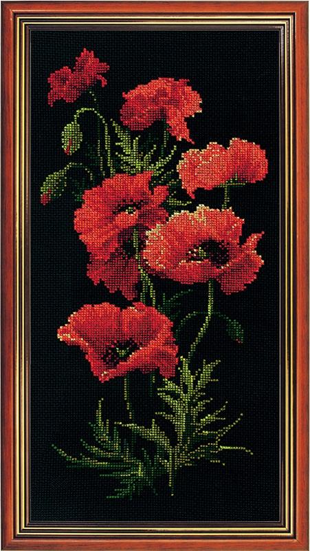 RIOLISクロスステッチ刺繍キット No.1057 「The Poppies」 (ポピー) ロシアの刺しゅうメーカー「リオリス」製ししゅうキット