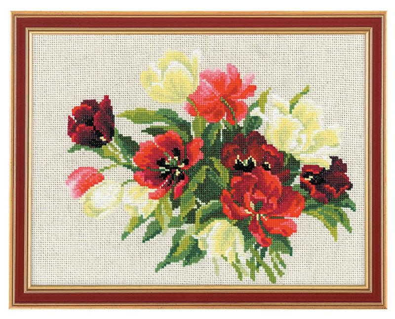 RIOLISクロスステッチ刺繍キット No.1065 「The Turips」 (チューリップ) ロシアの刺しゅうメーカー「リオリス」製ししゅうキット