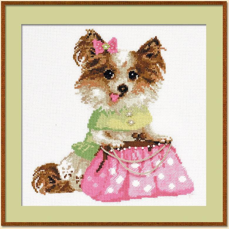 RIOLISクロスステッチ刺繍キット No.1067 「The Chihuahua」 (チワワ 犬) ロシアの刺しゅうメーカー「リオリス」製ししゅうキット