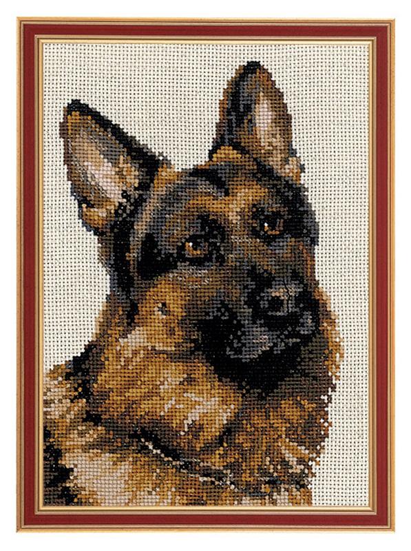 RIOLISクロスステッチ刺繍キット No.1068 「The Sheep-dog」 (牧羊犬) ロシアの刺しゅうメーカー「リオリス」製ししゅうキット