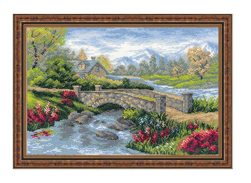 RIOLISクロスステッチ刺繍キット No.1078 「The Summer View」 (夏の風景) ロシアの刺しゅうメーカー「リオリス」製ししゅうキット
