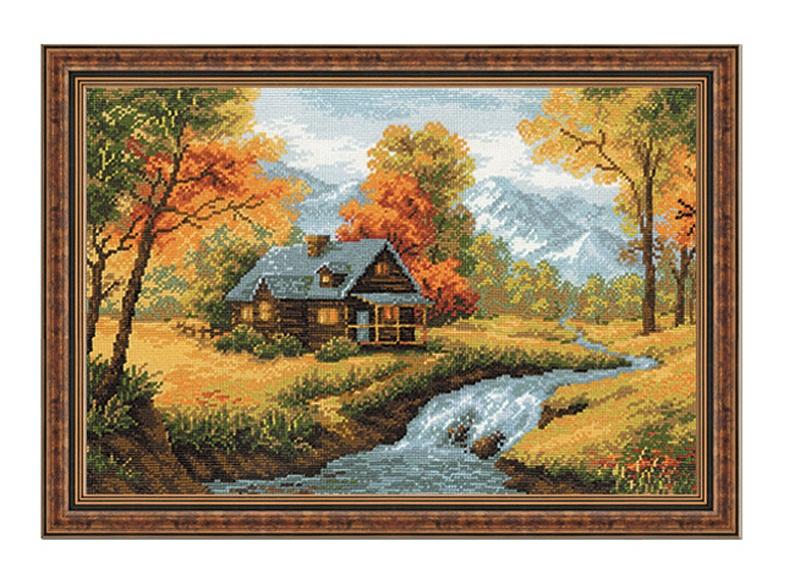 RIOLISクロスステッチ刺繍キット No.1079 「The Autumn View」 (秋の風景) ロシアの刺しゅうメーカー「リオリス」製ししゅうキット