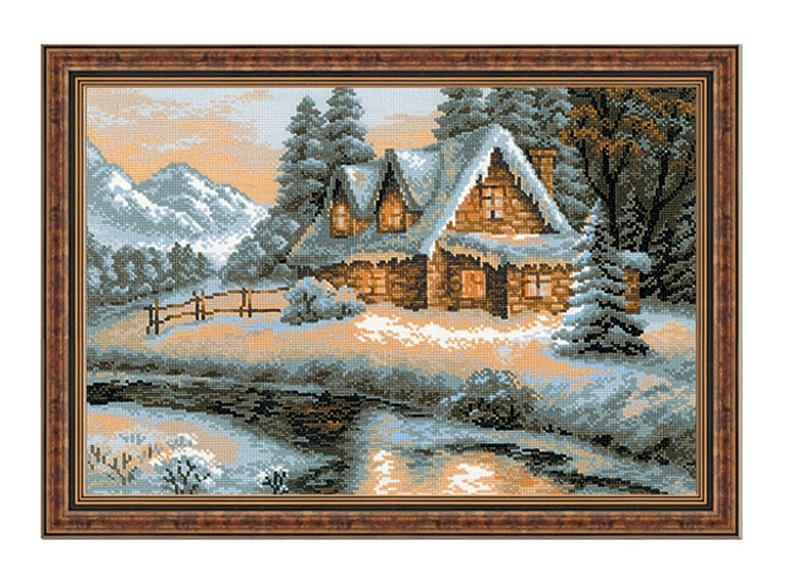RIOLISクロスステッチ刺繍キット No.1080 「The Winter View」 (冬の風景) ロシアの刺しゅうメーカー「リオリス」製ししゅうキット