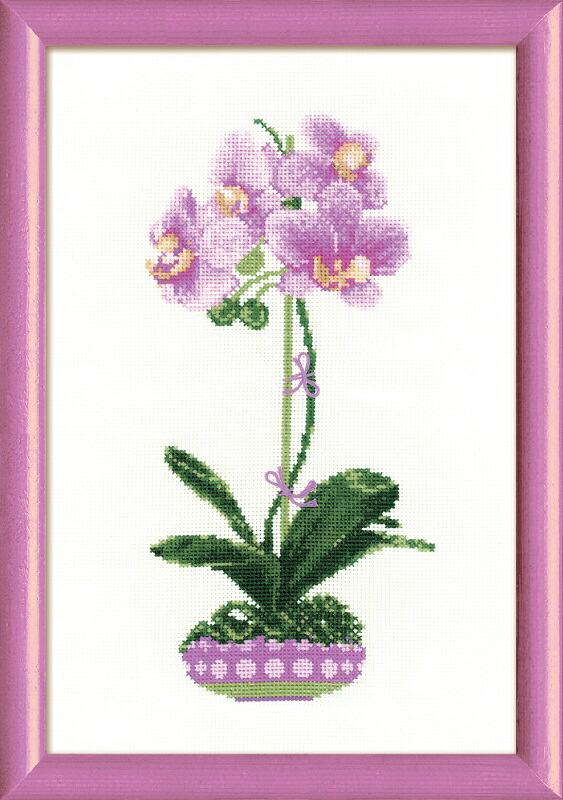 RIOLISクロスステッチ刺繍キット No.1163 「The Lilcak Orchid」 (ライラック・オーキッド) ロシアの刺しゅうメーカー「リオリス」製ししゅうキット