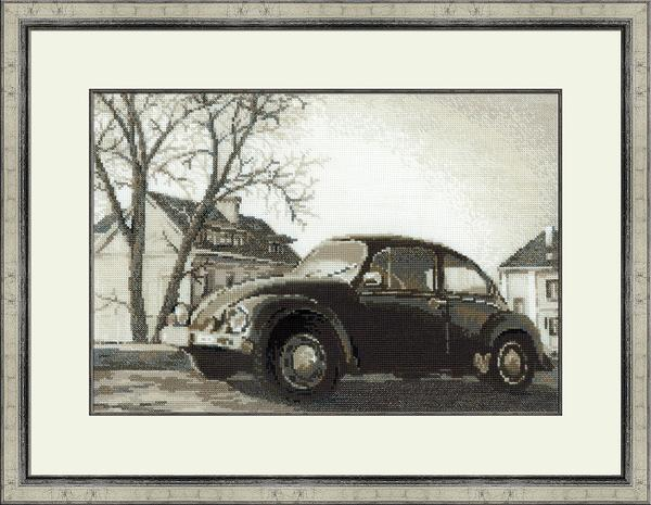 RIOLISクロスステッチ刺繍キット No.1177 「The Old Photo. The Beetle」 (古い写真 ビートル) ロシアの刺しゅうメーカー「リオリス」製ししゅうキット