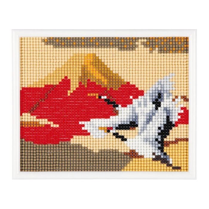 スキルミニギャラリーキットMG215「赤富士と鶴」