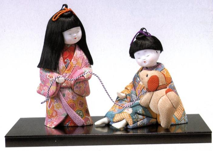 東芸 木目込人形キット「仲良しお散歩」 H120-07