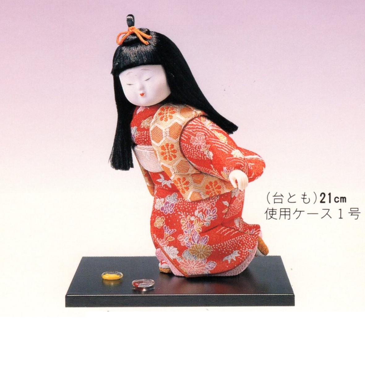 東芸 木目込人形キット「童女・いしけり」 H193-01