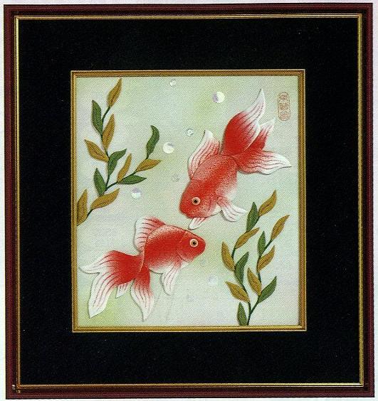 東芸押し絵キット H8624「やすらぎ金魚」