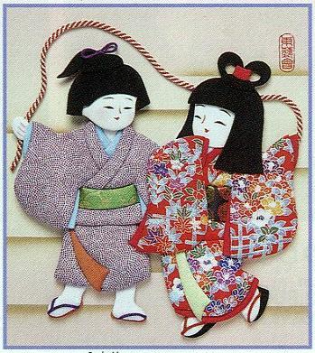 東芸押し絵キット H8807「なわとび二人」