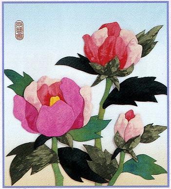 東芸押し絵キット H8822「緋牡丹」
