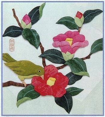 東芸押し絵キット H8825「椿にうぐいす」