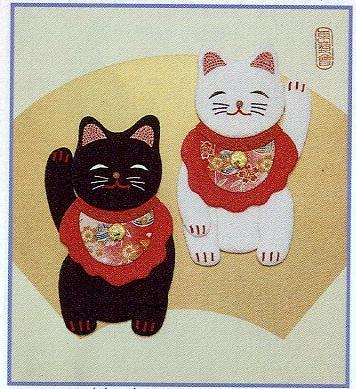 東芸押し絵キット H8872「ことぶき招き猫」